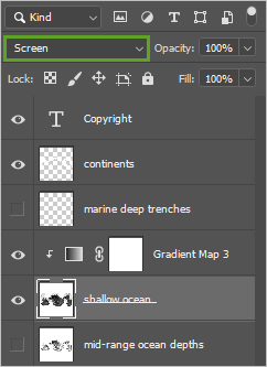 Screen blend mode in Photoshop