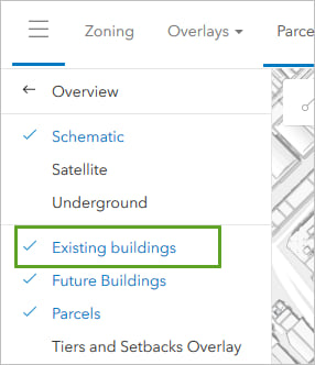 Turning off the Existing Buildings layer