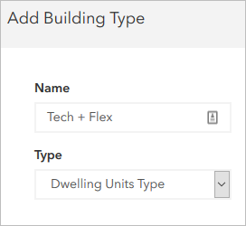 Building type specifications