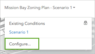 Select Configure from the toolbar dropdown