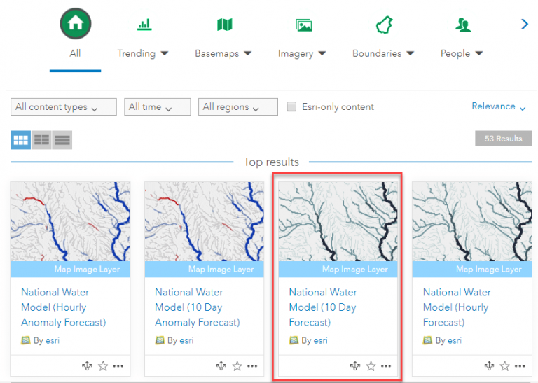 National Water Model (10 Day Forecast)