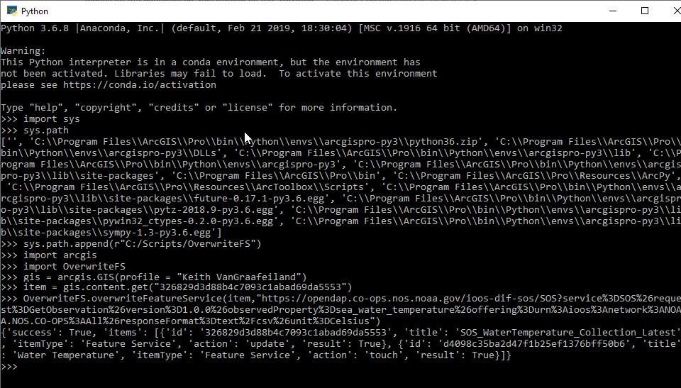 Running Script from Python