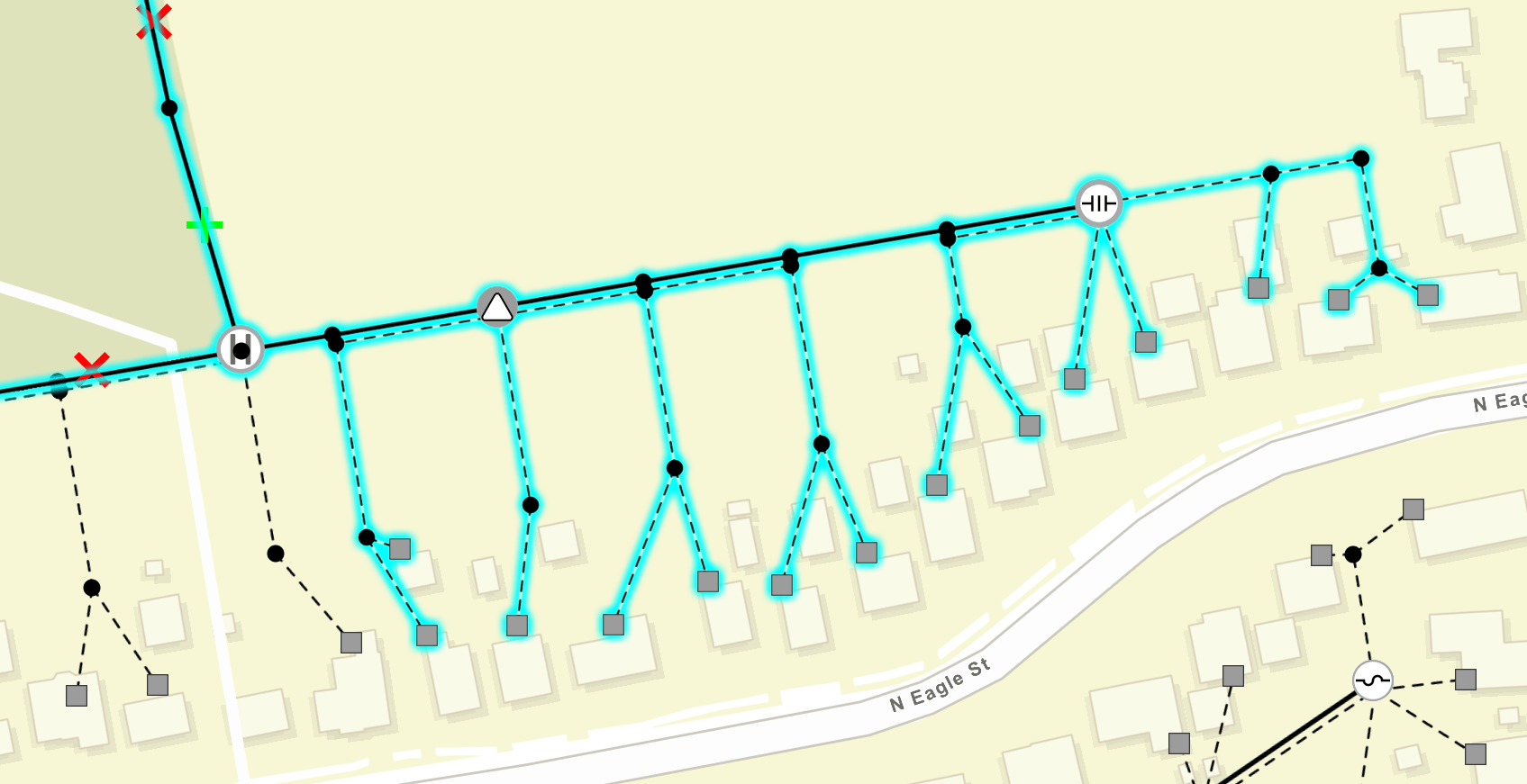 Utility Network Trace Result