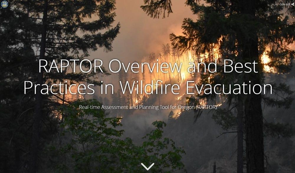 Interactive wildfire presentation