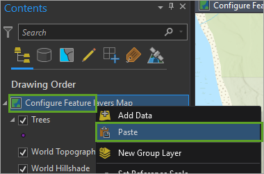 Paste new layers
