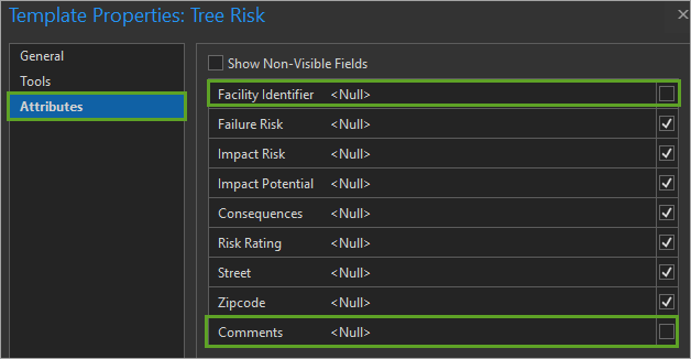 Set Risk template attributes