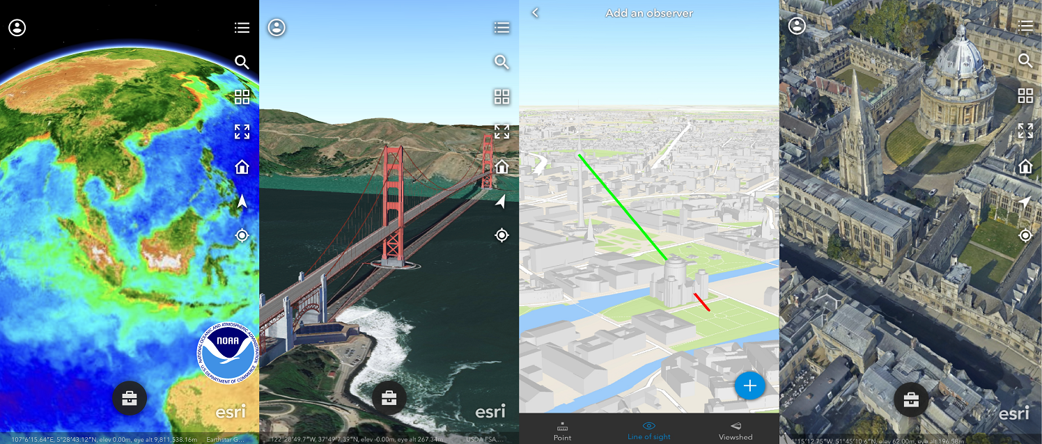 Browse 2D and 3D contents in ArcGIS Earth Mobile