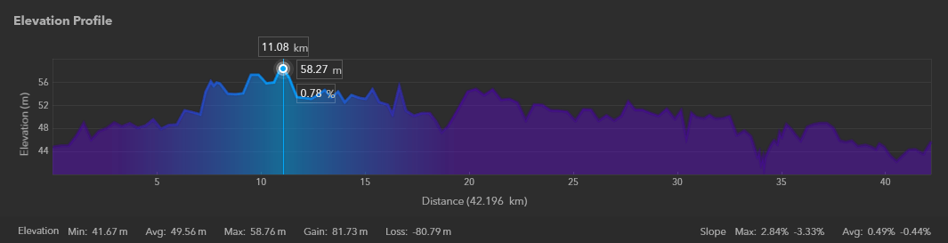 The Elevation Profile generated in ArcGIS Earth