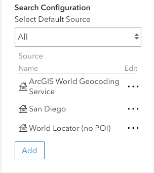 Search configuration