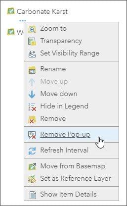 Remove Pop-up