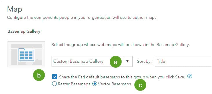 Basemap Gallery section