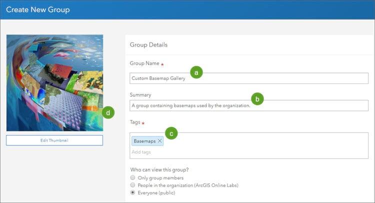 Create New Group