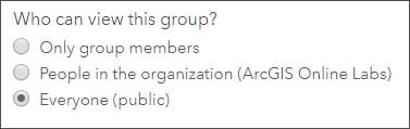 Viewable by Group setting