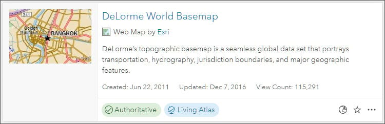 Authoritative Living Atlas item