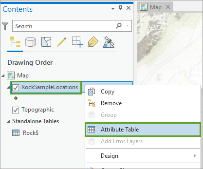 Display layer attributes