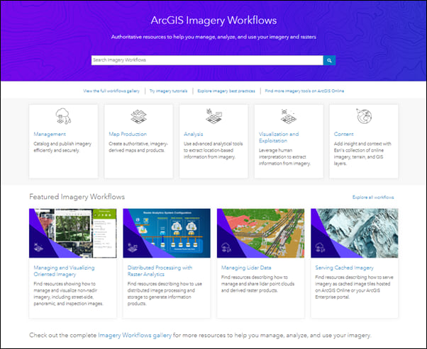 Explore the revamped ArcGIS Imagery Workflows website