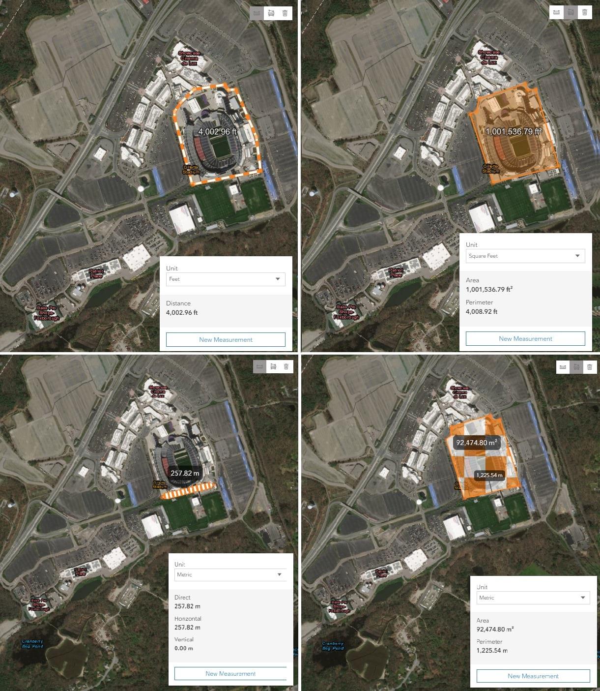 Measuring Gillette Stadium, Foxborough, MA