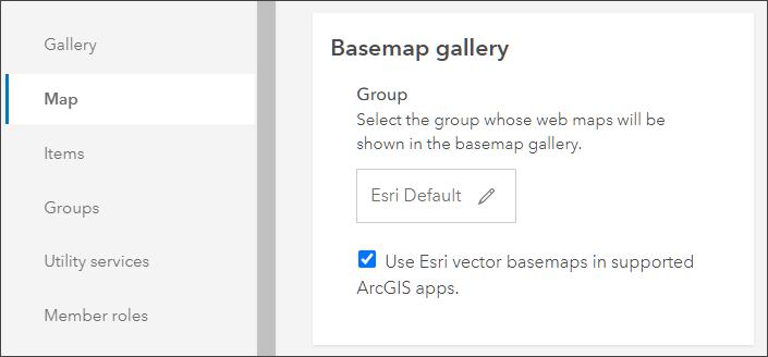 Select vector basemaps