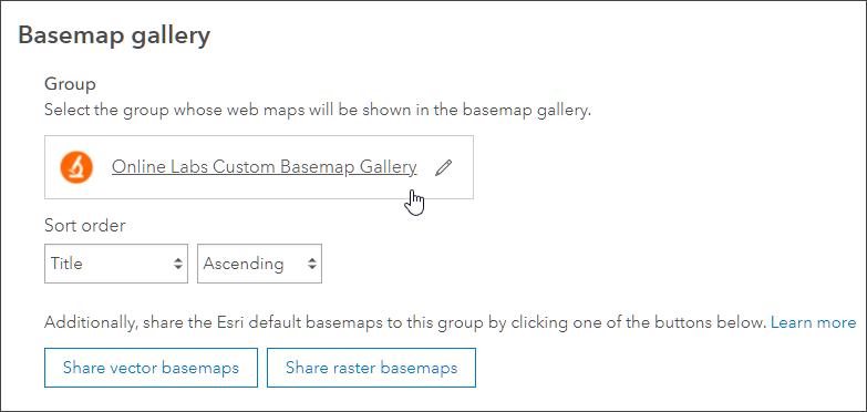 Set group for basemap gallery