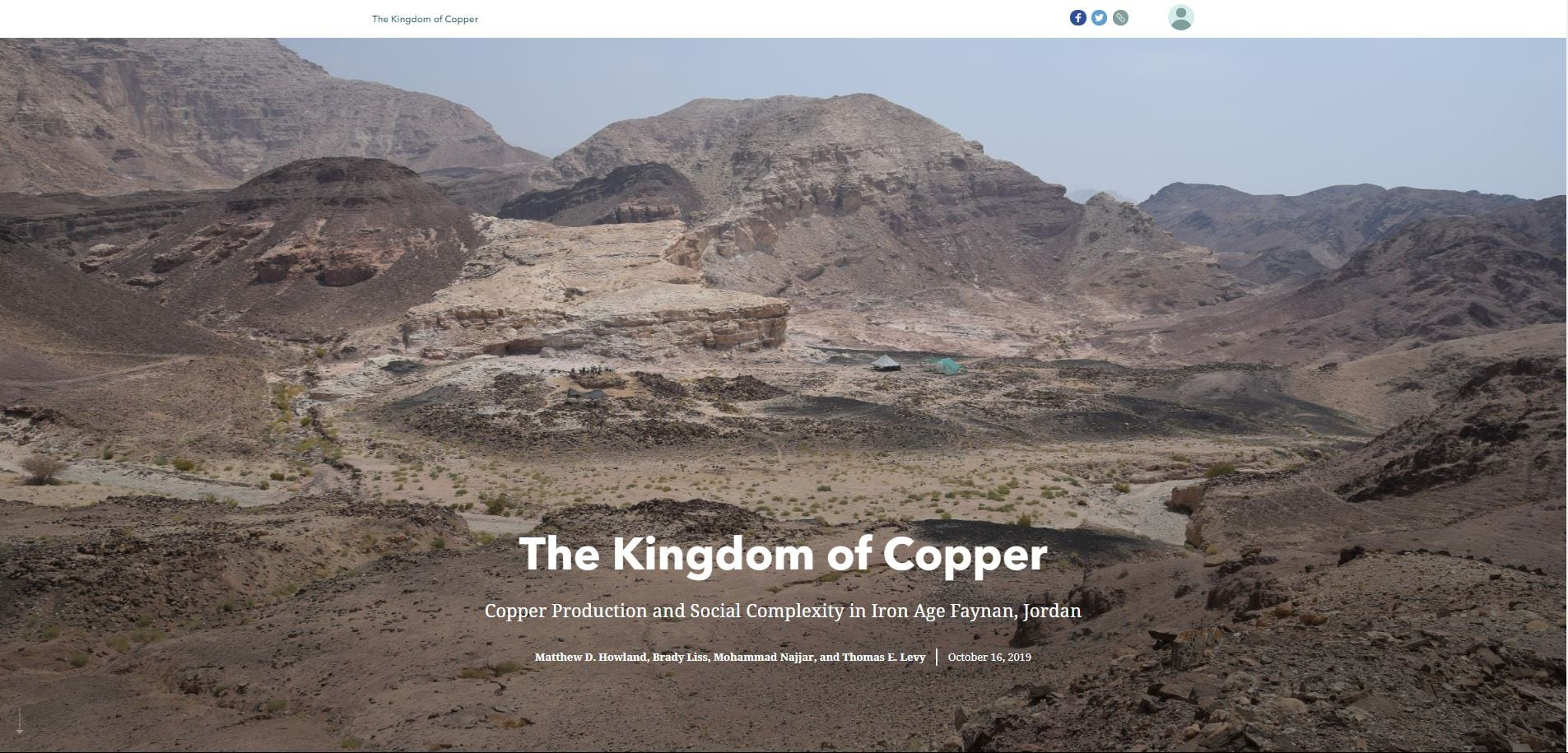 Cover of The Kingdom of Copper story map