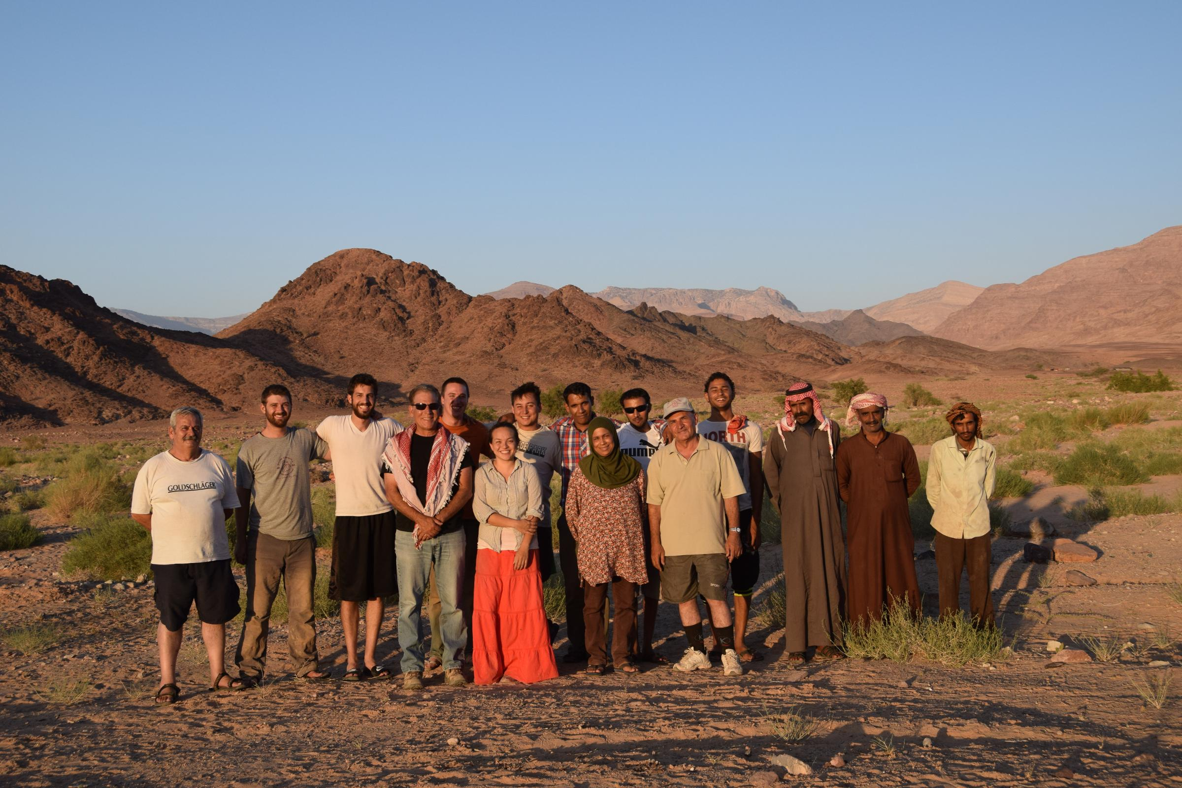 Members of the Edom Lowlands Regional Archaeology Project or ELRAP team