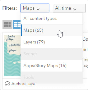 Maps filter