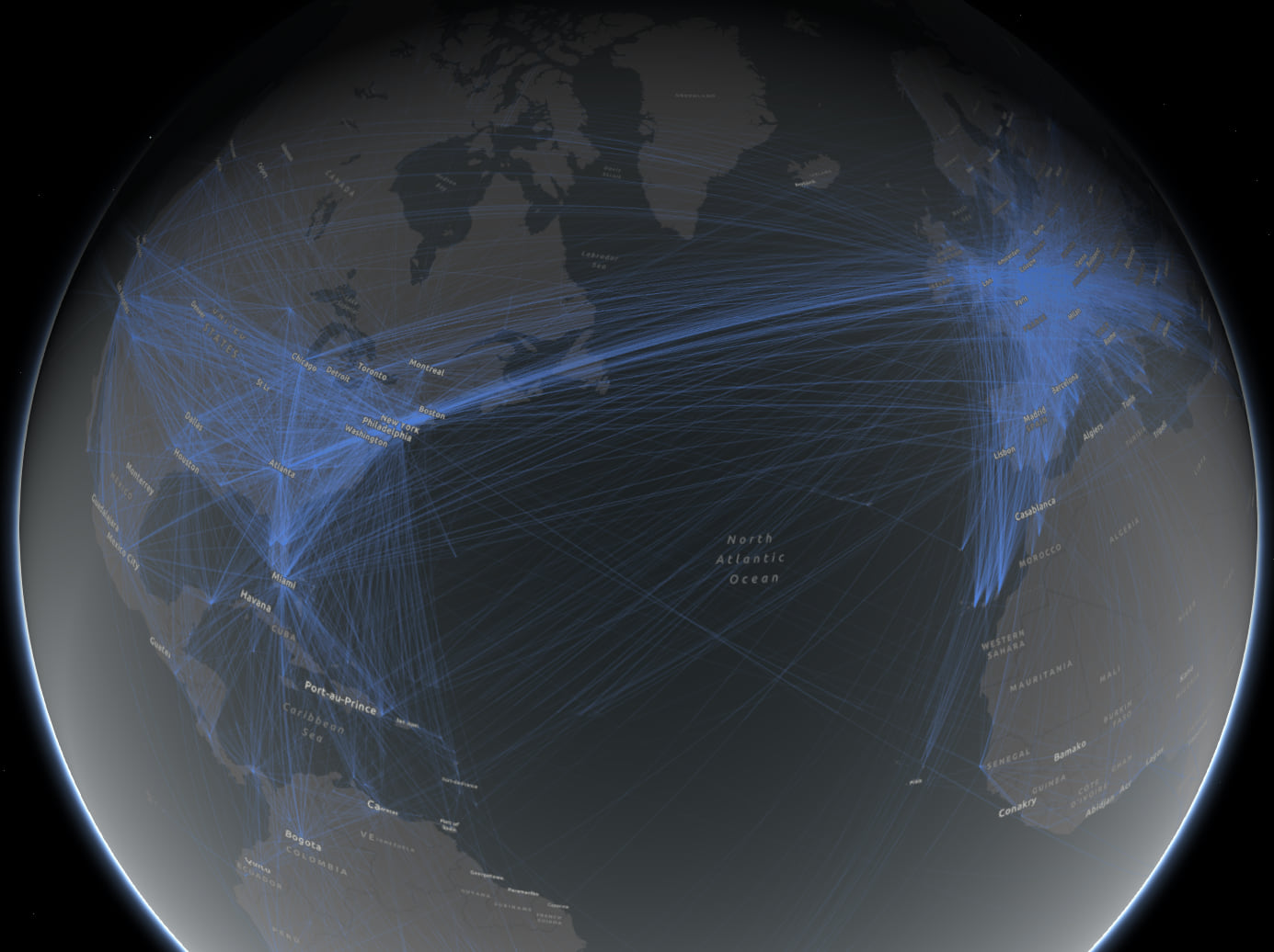 global airline routes