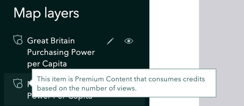 Premium content layer badge