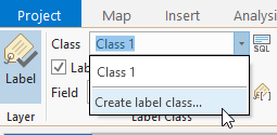 Create label class from the ribbon