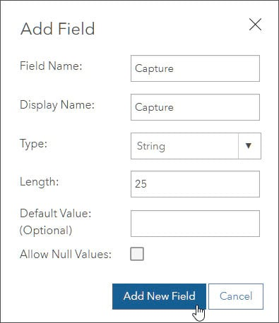 Add Field dialog box