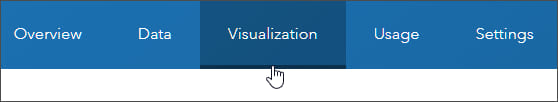Visualization tab