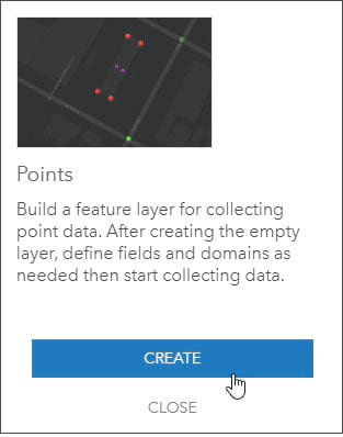 Create point feature layer
