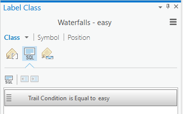 "Add SQL query ""Trail Condition is equal to easy"""