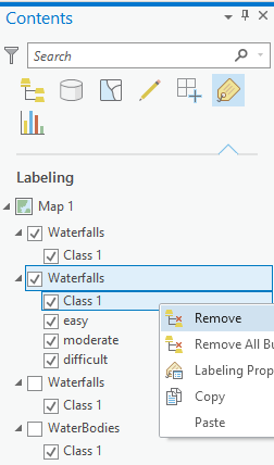 Remove Class 1 from the Contents pane