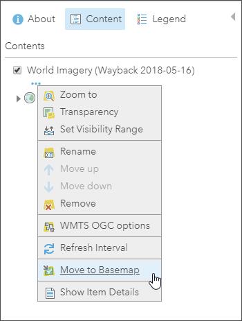 Move to Basemap option