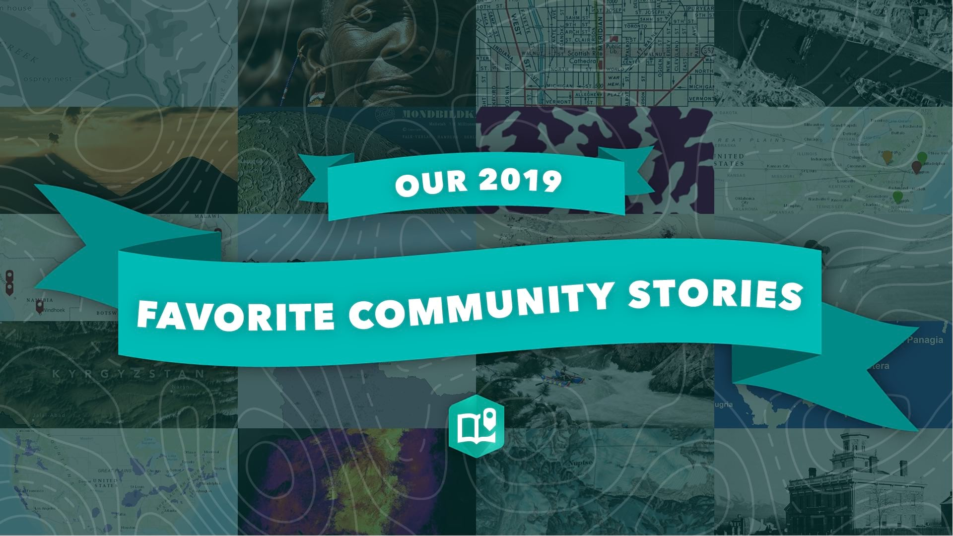 A graphical image to promote the 2019 community stories collection