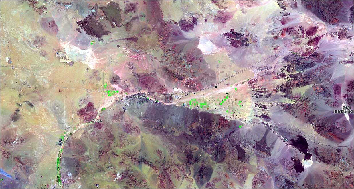Mojave in false color