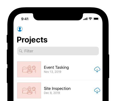 You can download projects to your device.