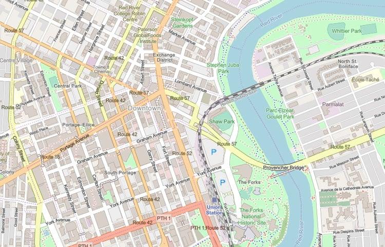 OpenStreetMap vector basemap