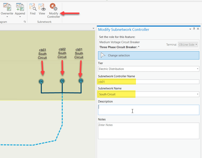 Use Modify Subnetwork Controller to set the circuit breakers as subnetwork controllers.