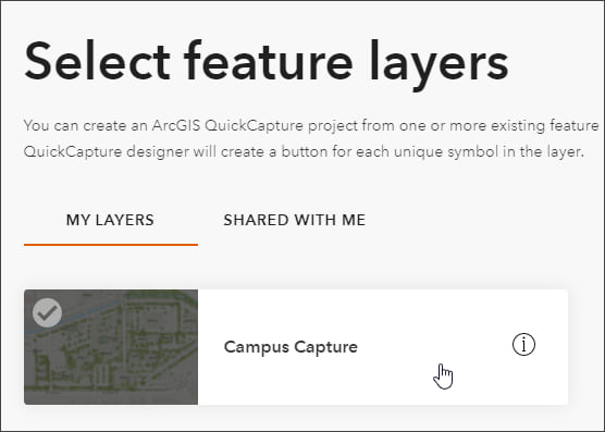 Select feature layer