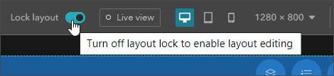 Turn off layout lock