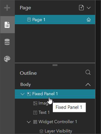 Select fixed panel widget