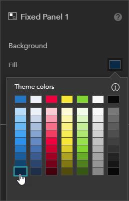 Fixed panel settings
