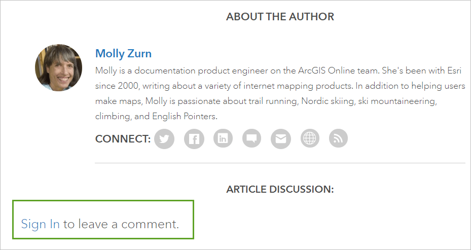 Sign in option on article page.