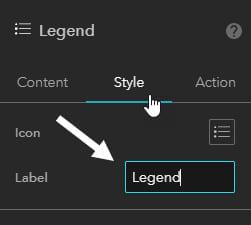 Legend label