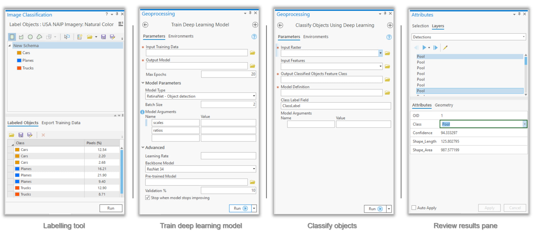 New deep learning tools in ArcGIS Pro 2.5