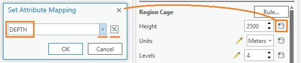 Configure the cage height to use a field value