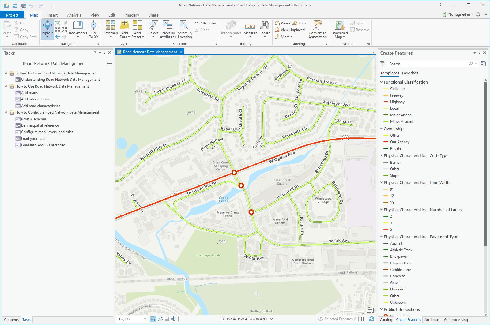 Road Network Data Management