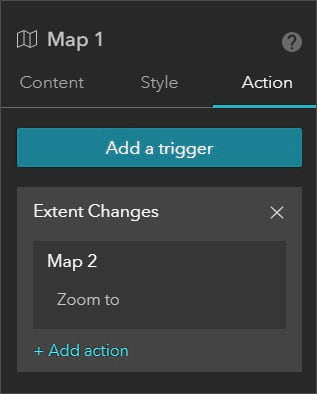 Map 1 Action tab